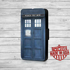 Doctor Who Tardis Leather Wallet Case For iPhone and Galaxy