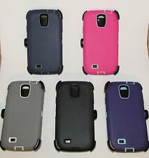 For Samsung Galaxy S4 Generic Defender Case w/ Build-in Screen + Holster