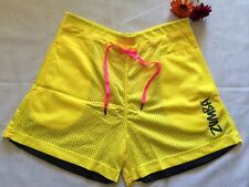 BNWT Zumba Authentic Z-Team Mesh Shorts Reversible Black/Pink or Yellow/Grey