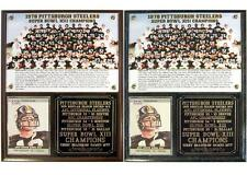 1978 Pittsburgh Steelers Super Bowl XIII Champions Photo Card Plaque T Bradshaw