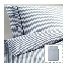 NEW IKEA NYPONROS DUVET COVER PILLOWCASES BLUE CLASSIC STRIPE TW FULL/QUEEN KG