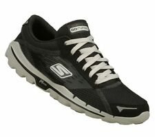 """New! Women's Skechers- """"GOrun 2"""" Athletic/Fashion Lace-Up Sneakers in Black/Grey"""