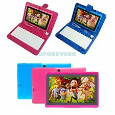 """16GB 7"""" Tablet PC Android 4.4 A33 Quad Core Camera WiFi With Keyboard Blue Pink"""