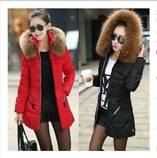 Winter 2014 women's down cotton clothing jackets with fur collar coats Overcoat