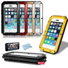 NEW Aluminum Gorilla Glass Metal Cover Case for iPhone 5C 4 4S 5 5S G Shockproof
