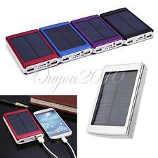Stylish 30000mAh Solar Panel Power Bank Dual USB External Mobile Battery Charger