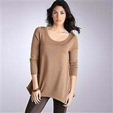 LADIES HAZEL BROWN SCOOP NECK ASYMMETRIC JUMPER/SWEATER  BNIP