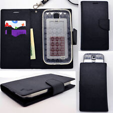 IDENTITY Onyx Black Universal Wallet Phone Case Pouch Flip Cover For Samsung SM