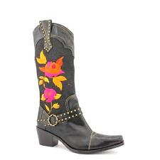J. Renee Dakota Womens Wide Textile Western Boots No Box