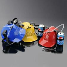 Drinking Helmet Beer Cola Dual Can Straw Hat Cap Holder F. 2014 Brazil World Cup