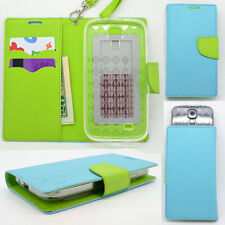 IDENTITY Ozone Blue Universal Wallet Phone Case Pouch Flip Cover For BLU