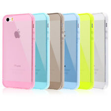Soft Silicone TPU Gel Rubber Clear Transparent Case Cover For Apple iphone 5 5S