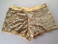 New Gia-Mia G174 for Adult Gold Sequin Short Dance Wear Excellent Quality!