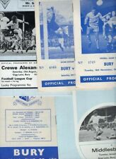 Bury HOME programmes 1960s and 1970s FREE P&P UK Choose from list