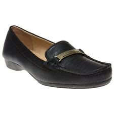 New Womens Naturalizer Black Gadget Leather Shoes Flats Slip On