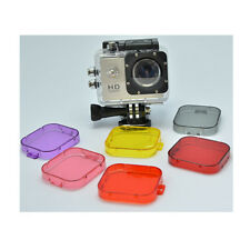 6 color Snap-on Under Water Sea Dive Lens Color Filter F SJ4000 Camcorder Camera