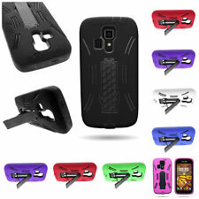 Dual Layer Rugged Kickstand Hybrid Phone Cover Case for Kyocera Hydro Icon