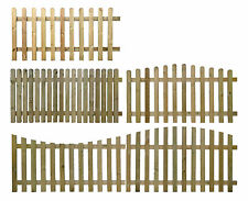 WOODEN PICKET FENCE PANEL - 6FT SECTIONS CHOOSE STYLE & SIZE - PRESSURE TREATED
