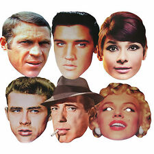HOLLYWOOD STARS - CARD FACE MASKS - 6 TO CHOOSE  + MULTIPACK - LICENSED PRODUCTS