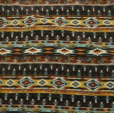 Aztec Tribal IKAT print Polyester Soft Touch woven fabric - by the yard & m