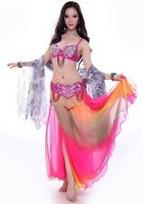 C863 Belly Dance Costume Outfit Set Bra Top Belt Hip Scarf Skirt New Hot Style!!