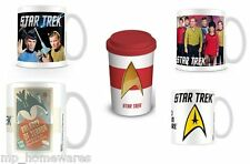 Star Trek Ceramic Coffee Mugs Star Trek Crew Captain Kirk & Mr Spock Travel Mug