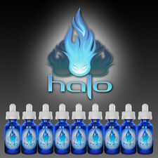 Halo Premium Vapors Liquid 15mL 0Mg for Vape Vaporizer - All Flavors