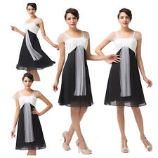 2014 Charm Black&White Wedding Bridesmaid Evening Vintage 50s Style Prom Dresses