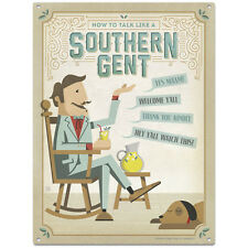 How To Talk Southern Gent Metal Sign US Travel Decor Vintage-Style