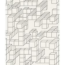 NEW RASCH TRENDSPOTS 3D SPOTS CUBE PATTERN DESIGNER BLACK WHITE WALLPAPER 896244