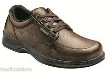 AVERY ISLAND ORTHOFEET BROWN MEN'S COMFORT - SPEED LACE DIABETIC SHOES - 420
