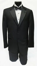40R Mens Black Joseph Abboud Super 120 Wool 2 Button Notch Tuxedo Jacket Package