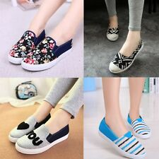 2014 Fashion Womens Slip on  Flats Sneakers Floral Leisure Canvas Gym shoes NX69