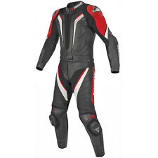 Dainese Aspide New 2 Piece Leather Suit Black / Black / Red | All Sizes