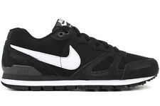 Nike Air Waffle Trainer Leather 454395 004 New Mens Black White Running Shoes