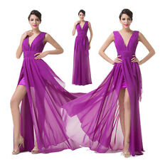 Long High Low Chiffon Evening Formal Party Gowns Prom Bridesmaid Formal Dresses