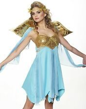Deluxe Franco Sexy Greek Goddess Toga Party Athena Roman Halloween Costume S,M,L