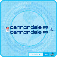 Cannondale Track Bicycle Decals Transfers Stickers - Choice Of 5 Colours