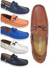 Men Brixton New Leather Driving Casual Shoes Moccasins Slip On Loafers awd2