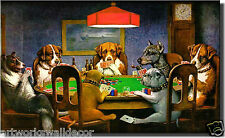 On Wood: Dogs Playing Poker, Ace in the Paw Wall Decor Picture, Ready to Hang
