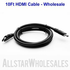 10Ft HDMI Cable 1080P HDTV DVD LCD LED PS3 XBOX PC HD TV 3D Blue-Ray - Wholesale