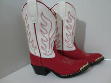 Cowboy Boots for Boys or Girls by Old West-Red/ White - New with Box- VJ9122