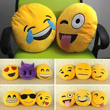 Soft Emoji Smiley Emoticon Yellow Round Cushion Pillow Stuffed Plush Toy Doll