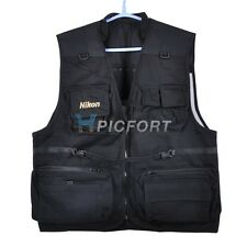 New Cotton photographer photo vest black 5 sizes for Nikon fans D5000 D90 D700