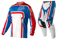 NEW 2015 TROY LEE DESIGNS GP FACTORY MX DIRT BIKE GEAR COMBO BLUE ALL SIZES