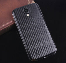 Black Leather & Black Cover Battery Door back Case For SAMSUNG Galaxy S4 i9500