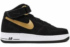 Nike Air Force 1 Mid 07 315123 023 New Mens Black Gold White Basketball Shoes