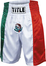 Title Mexico Flag Stock Boxing Trunks