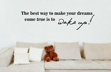 JC Design 'The best way to make your dreams come true is to wake..' Wall Sticker