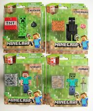 """MINECRAFT OVERWORLD Series 1 - Choice of Single 3"""" (Approx.) Articulated Figures"""